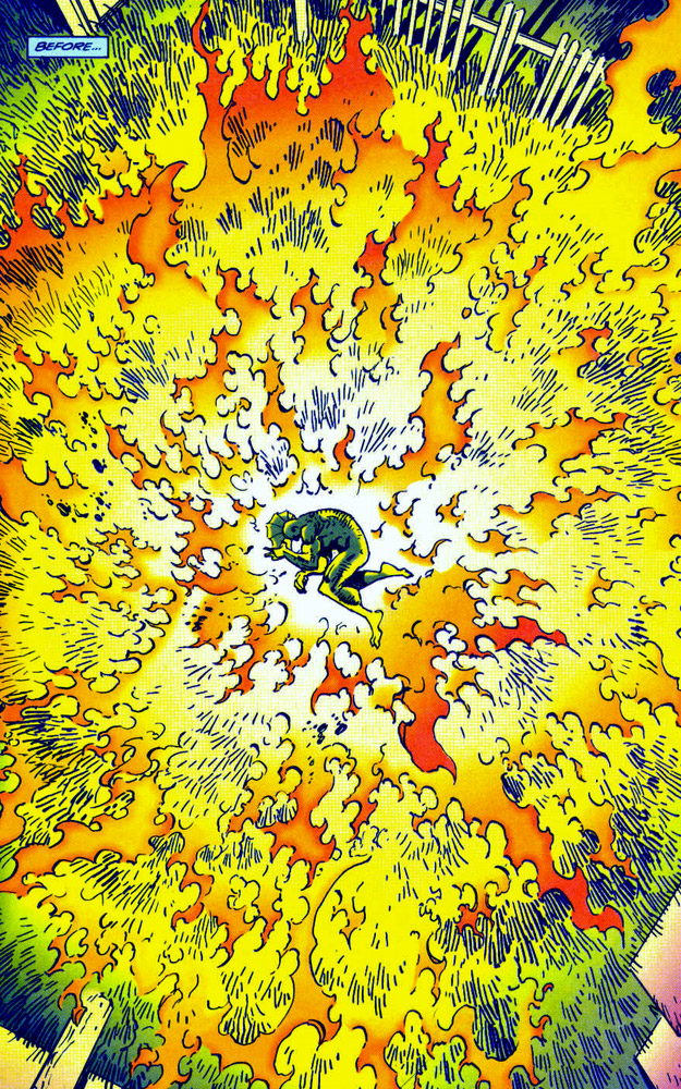Savage Dragon found in burning field