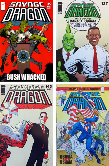 Presidents on the Covers of Savage Dragon