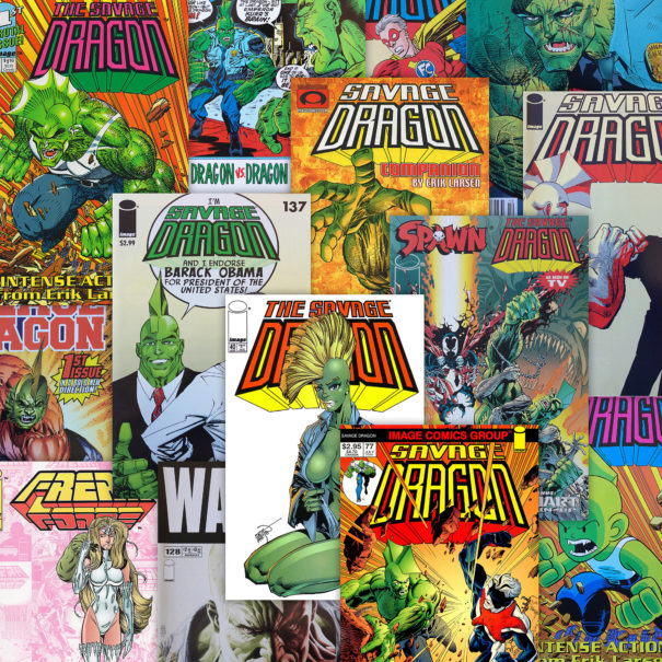 Selection of Savage Dragon Variant Covers