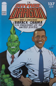 Cover Savage Dragon Vol.2 #137d Obama 3rd Printing Variant