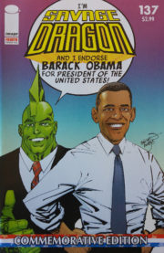 Cover Savage Dragon Vol.2 #137e Obama 4th Printing Variant