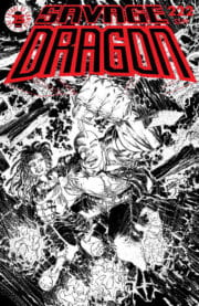 Cover Savage Dragon Vol.2 #222b Black&White Variant
