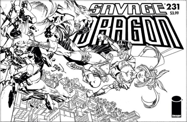 Savage Dragon #231 Cover sketch