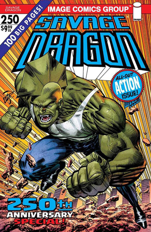 Cover Savage Dragon Vol.2 #250 Second Printing